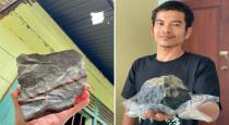 Indonesian man becomes an instant millionaire as meteorite worth 1.4m crashes through his roof