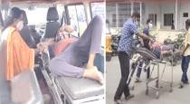 Krishnagiri corona patient dead in ambulance viral video