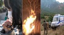 3 members died near theni in forest fire