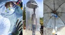 Bihar youth invent umbrella to protect from coronovirus