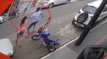 Women and man save a kid from car accident viral video