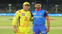 Chennai Super Kings won the toss and elected to bat against to DC