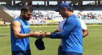 Indian team with army cap in 3rd odi