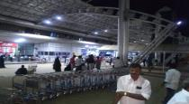 no crowd in trichy airport