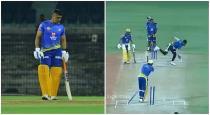 Chennai captain dhoni ipl match practice video