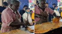 Flying dosa with plat viral video