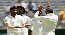 2nd test aus all out for 243 in 2nd innings
