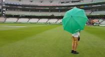 Rain delayed last day of 3rd test