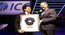 Sachin awarded the icc hall of fame