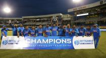 Kholi and sreyas played and won the series
