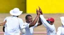 India loses wickets in first test against West indies