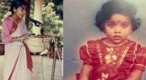 VJ Chitra childhood photos
