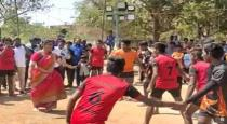 roja playing kabaddi video viral