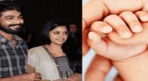 Gv prakash and saindhavi belessed with girl baby