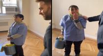 Struggling cleaner tears up after being gifted apartment
