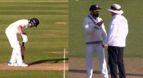 Virat Kohli complains to umpire