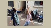 girl-dance-in-street-to-welcome-her-sister-from-hospita