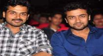 Actor karthi with surya first selfi viral