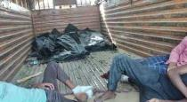 Migrant workers travel with deadbody in lorry
