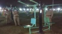 Exercise machine work automatically in park