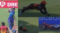 Manish pandey brilliant catch against MI