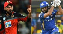 IPL 2019 today most exciting match Kholi vs Rohit