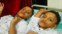 Twin boys saved from flight accident