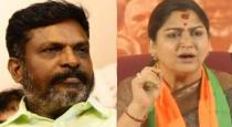 kushboo talk about thirumavalavan