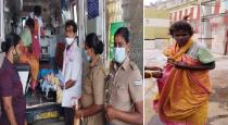 women police got delivery for mentally affected women