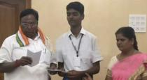 handicapped student helping to kerala