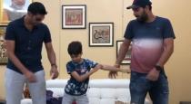 Nehra son teach dance to nehra and yuvaraj singh