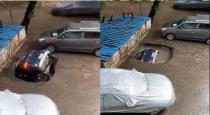 Car dumbing in water viral video