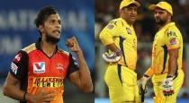 fans increased to SRH team for Natarajan