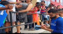 Virat kohli cheers indian fans in west indies