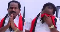 DMK candidate cries when asking vote in Pudukkottai