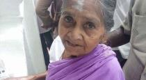 85 OLD LADY CAME CHENNAI TO MEET DMK LEADER