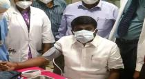 health minister vijayabaskar vaccinated against covid 19