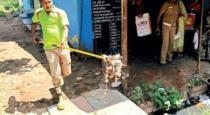Snake entered into ration shop near Palani