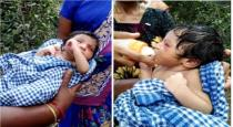 New born baby hanged on tree near Pudukottai