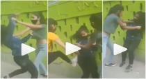 Crazy Fight Breaks Between Girls on Road viral video