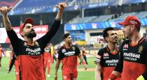 luck for RCB in yesterday match