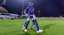 Mumbai indians releses the training action of rohit sharma