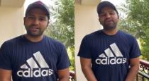 Rohit sharma thanks to the fans for wishing