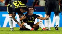 football player ronaldo crying for red card