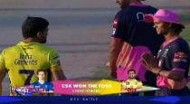 Rajasthan player greetings dhoni viral video