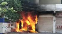 ATM machine fire and 45 lakhs worth money burned