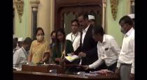 BMC Joint Municipal Commissioner Ramesh Pawar accidentally drinks from a bottle of hand sanitiser