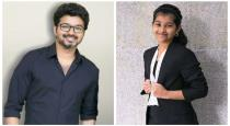Vijay seeing het daughter playing badminton viral video