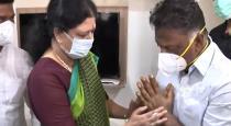sasikala condolence to pos wife