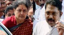 ttv dhinakaran talk about sasikala  arrival